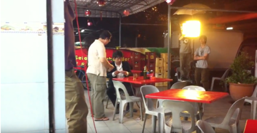 中華料理店でのシーン