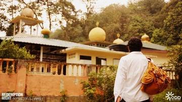 モスクの中での撮影